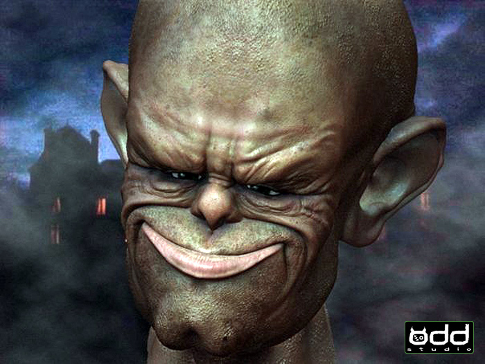 Smiling Ogre: Zbrush concept.