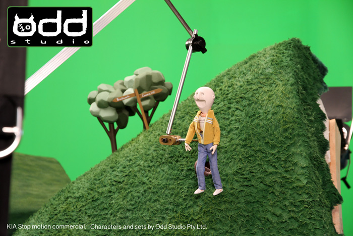 KIA Stop Motion Commercial. Odd Studio designed and produced all the stop motion characters and sets for this KIA car commercial.