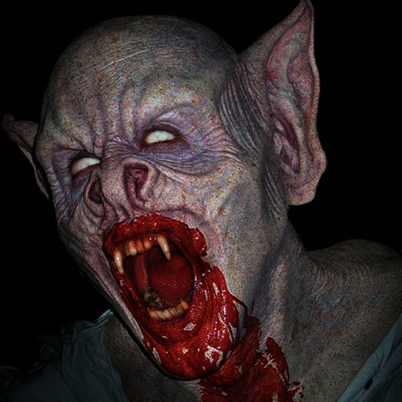 Vampire Bat: In-house. Sculpt, design and application by Adam Johansen, colour scheme and paint job by Damian Martin.