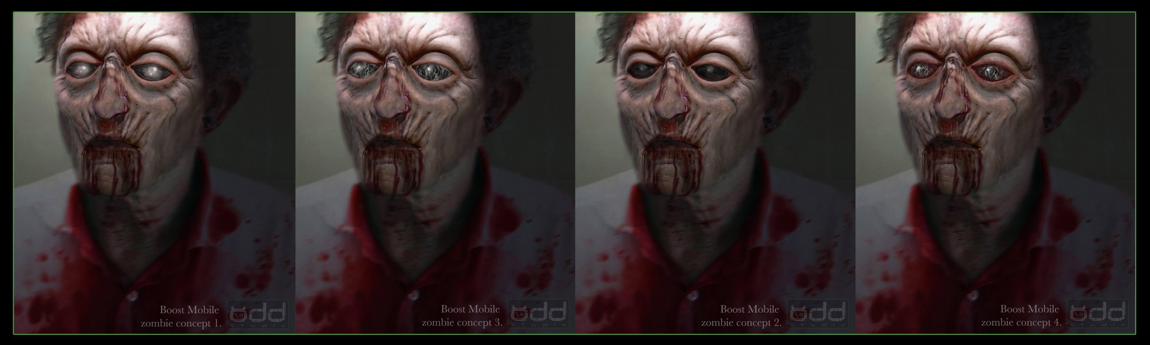 Boost Mobile Zombie girl concept. Design by Adam Johansen.