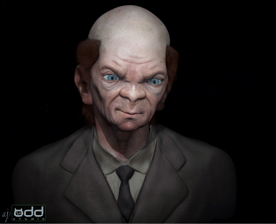 Adam Johansen's 'Creepy Teacher' Zbrush concept.