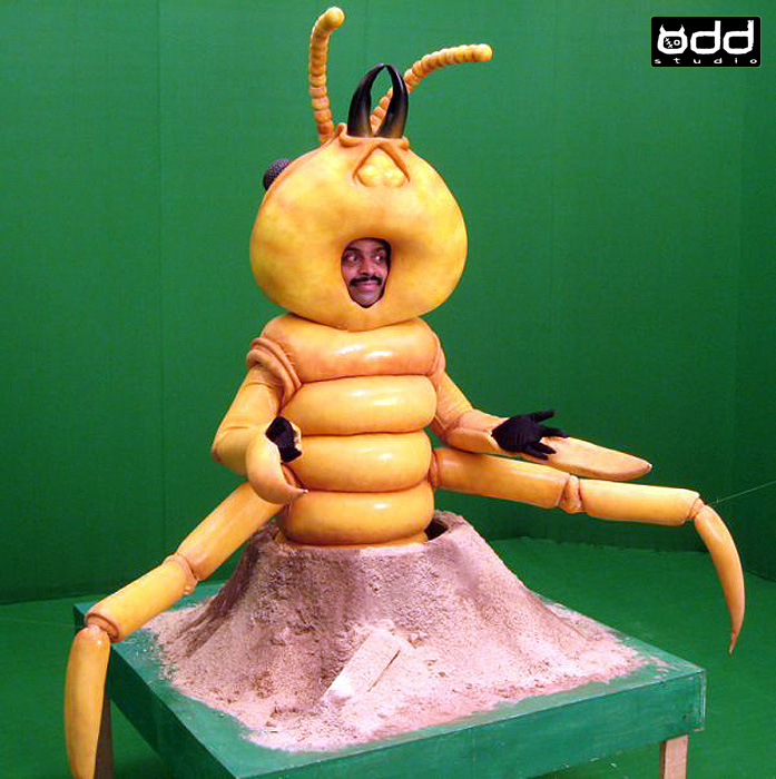 PCI Pest Control: Indian Adfilm. Odd Studio produced these fun, insect costumes for a series of Indian Adfilms shot in Mumbai. Termite.